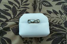 Ring Handcrafted Band Sterling Silver Jewelry Mother Of Pearl Inlay Size 7 3/4