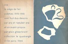RARE EO N° HANS ARP + ALAIN GEERBRANT : LE SIÈGE DE L'AIR, POÈMES 1915-1945