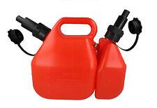 Chainsaw 5 Litre  2 Litre Combican Combi Can Oil & Petrol Fuel Anti Spill Spouts