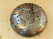 Tank drum steel tongue handpan, B minor Natural ,22cm , 10 notes ethno folk