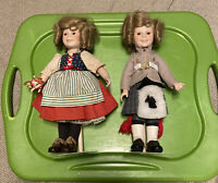 2 Shirley Temple Dolls. 1986. Heidi N Wee Willie Winkle. No Boxes. Porcelain!!!!