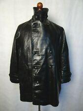 Men's vintage années 1970 perfecto en cuir POLICE ITALIENNE veste 42R (M)