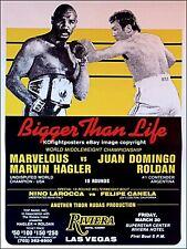 Marvin Hagler vs. Juan Roldan: original en el sitio de colección Cartel De Boxeo Lucha