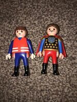 VGC 2 Playmobil Figures Knight + Building Worker Excellent Condition