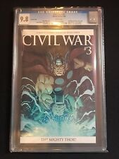 CIVIL WAR #3 CGC 9.8 (Thor 1st App Of Ragnarok, McGuinness Variant) Marvel 2006