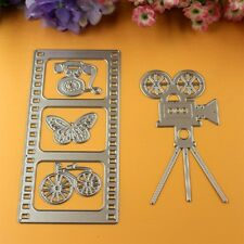 Metal Movie Film Camera Cutting Die Set Telephone Butterfly Bicycle Cutter DC034