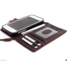 genuine leather case for iphone 5c 5s SE wallet flip pouch luxury flip cover new