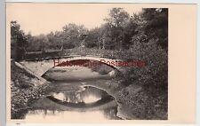 (F4411) Orig. Foto Magdeburg, Brücke im Stadtpark, Privatfoto vor 1945