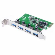 Inateck 4 Ports PCI-E USB 3.0 Expansion Card Interface Express Desktop Adapter