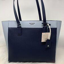 Kate Spade Cameron Leather Laptop Top Blue Colorblock WKRU5840