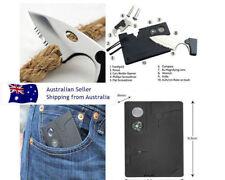 new KNIFE Survival Multifunction 10 IN 1 Pocket Tool Credit Card MULTI WALLET
