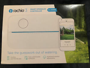 RACHIO 3 SMART SPRINKLER CONTROLLER 8-ZONE 8ZULW-C  BRAND NEW, SEALED
