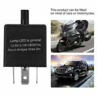 12V 3-Pin LED Adjustable Car Flasher Flash Relay For Turn Signal Light CF13 New