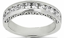 0.60 carat Round cut Diamond Anniversary 14K White Gold Band G color SI1 clarity