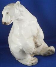 Rare Nymphenburg Porcelain Polar Bear Figurine Figure Porzellan Eisbaer Figur
