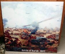 Battle of Kursk 1943~tiger vs T34~panzer IV vs KV1 german russian Ceramic Tile