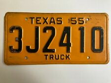 1955 Texas Truck Commercial License Plate Pickup Original has some scrapes