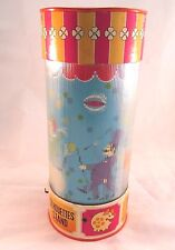 Old vintage Plastic Round Musical Stand toy with Circus Scenes Japan c.1960s