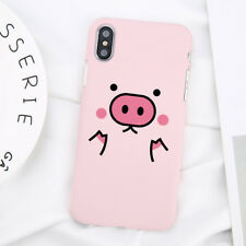 Cartoon Pink Pig Cute Funny Hard Phone Case Cover For iPhone X 7 8 6s Plus 5s SE