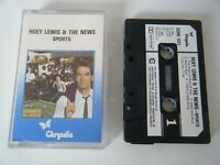 HUEY LEWIS & THE NEWS SPORTS CASSETTE TAPE 1983 PAPER LABEL CHRYSALIS UK