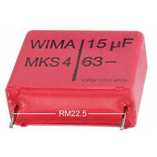 4 St WIMA MKS-4 Kondensator 15µF 63VDC RM-22,5 ±20% Rohs konforme Neuware