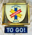 RARE 60s 70s Ruppert Knickerbocker TO GO Beer Bar Light Advertising Wall Sign