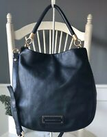 MARC BY MARC JACOBS Too Hot To Handle BLACK Leather Hobo Convertible Crossbody