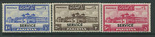 Pakistan 1948 1 rupee to 5 rupees overprinted Service mint o.g. hinged