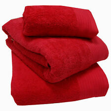 Chatsworth 100 Egyptian Cotton Bathroom Towels Super Soft 600gsm Red Bath Towel