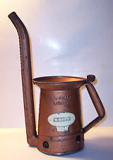Huffy Huffman 1 quart swing arm spout copper paint oil can automobile tool