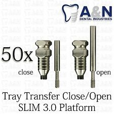 50 Impression Transfer for slim 3.0mm platform  dental Implant Free Ship