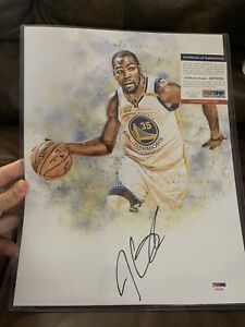 Kevin Durant Signed Autographed 11x14 Photo Picture PSA Warriors MVP RARE!