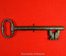 "Antique KEY 17th-19th C. English or French 6"" Castle Door Church Jail House Lock"