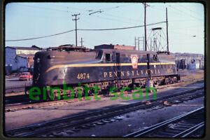 Original Slide, PC Penn Central GG1 Electric #4874 (ex PRR), in 1970