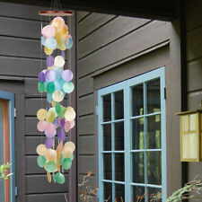 "Woodstock Chimes - Capiz Waterfall - Rainbow - 40 "" x 6.5 "" 100 Capiz Shells CWR"