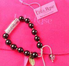 STUNNING LOLA ROSE SEMI PRECIOUS STONE BLACK & GREY BRACELET WITH BAG &  TAGS