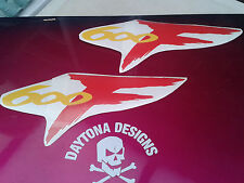 CBR 600F YELLOW & RED SEAT UNIT TAIL PIECE DECALS STICKERS GRAPHICS