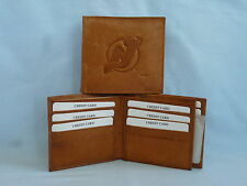 NEW JERSEY DEVILS    Leather BiFold Wallet    NEW    brown 4+
