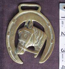 Vtg./Antique Horse Brass/Horseshoe & Horsehead