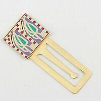 ENAMEL GOLD TONE BOOKMARK GREEN RED PURPLE by CLERE CONCEPTS
