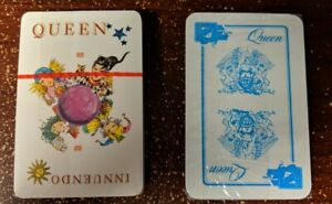 Queen GERMANY: 2 SETS OF CARDGAMES (red EMI promo + blue German Fan Club) rare
