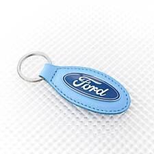 Richbrook Car Show Event Ford Focus Fiesta Ka Light Blue Leather Key Keyring