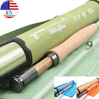 """SPRING SALE on FMO 7'6"""" 4wt 5pc E-Glass Pack Fly Rod Line FMO CNC Fly Reel"""