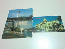 Singapore Changi Airport Merlion Supreme Court phone cards 1990s