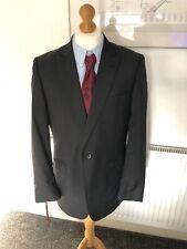 Jaeger Men's Black 2 Piece Suit 42 Jacket Blazer Trousers W34 L31