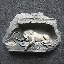 Resin Fridge Magnet Switzerland Lucerne Lion Monument Special Tourist Souvenir