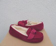 UGG HAZEN BOW BOUGAINVILLEA SUEDE/ SHEEPWOOL MOCCASIN SLIPPERS, US 11/ 42 ~NIB