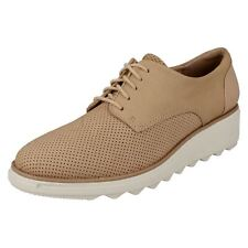 Ladies Clarks Casual Lace Up-Trainers Sharon Crystal