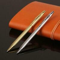 1mm Luxury Full Metal Ballpoint Pen Black Ink Gel Pen Office Stationery H1P2