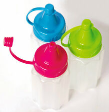 Sistema To Go Mini Refillable Sauce Bottles Set of 3 Lunch Picnic Camping Travel